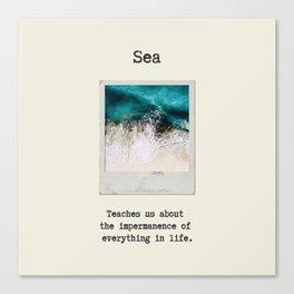 Small Emotional Dictionary: Sea Canvas Print