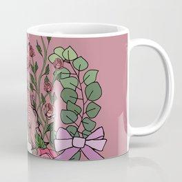 Unicorn in a Pink Rose Garden Coffee Mug