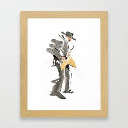 Musician Jazz Saxophone Framed Art Print