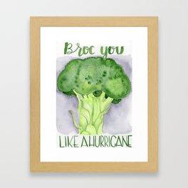 broc you like a hurricane Framed Art Print