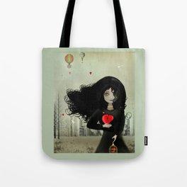 Dark Steampunk Valentine I Heart You Tote Bag
