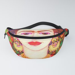 My other Frida Kahlo with butterflies Fanny Pack