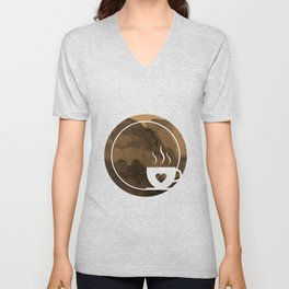 Coffee brings the passion - I love Coffee Unisex V-Neck