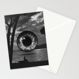 Night landscape Stationery Cards