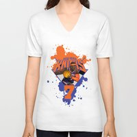 nba V-neck T-shirts featuring NBA Stars: Carmelo Anthony by Akyanyme