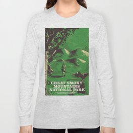 Great Smoky Mountains National Park vintage travel poster Long Sleeve T-shirt