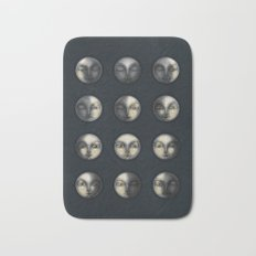 moon phases and textured darkness Bath Mat