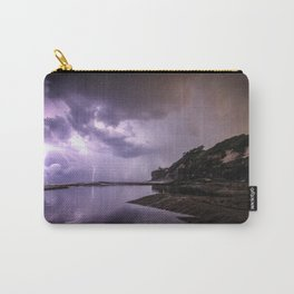 Dramatic lightning storm illuminates the sky Carry-All Pouch