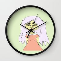 india Wall Clocks featuring India by Bethany Louise