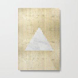 inverse trian gold Metal Print