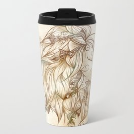 Poetic Lion Metal Travel Mug