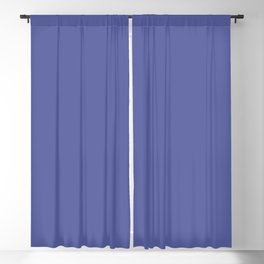 Blue-Purple Solid Color Pantone Iris Bloom 18-3950 Accent to Color of the Year 2021 Blackout Curtain