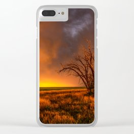 Fascinations - Warm Light and Rumbles of Thunder in Oklahoma Clear iPhone Case