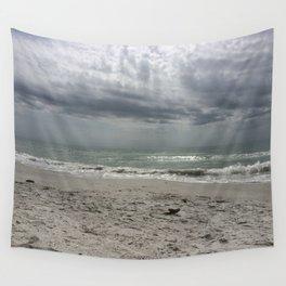 Lake Michigan storm Wall Tapestry