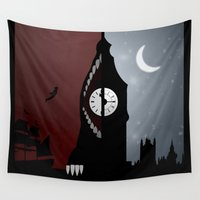 peter pan Wall Tapestries featuring Peter Pan by Rowan Stocks-Moore