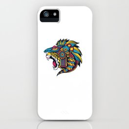 Mexican Aztec Jaguar Huichol Art iPhone Case