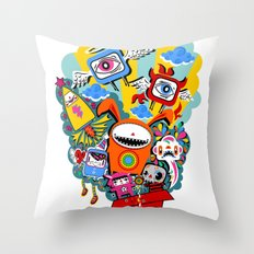 Polypop The Box Throw Pillow