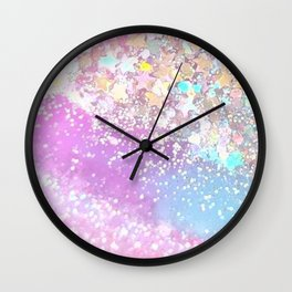 Pastel Kei Galaxy Wall Clock