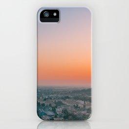 colorful sunset in Bergamo iPhone Case