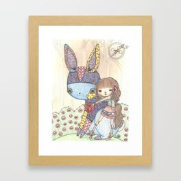 make a friend  Framed Art Print