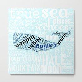 starry sea whale Metal Print