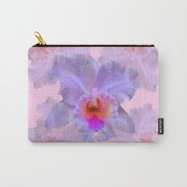 TROPICAL LILAC CATTLEYA ORCHID FLOWERS PINK ART Carry-All Pouch