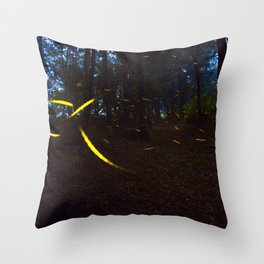 Fireflies Throw Pillow