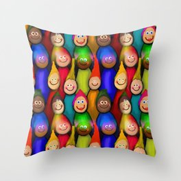 Happy Audience Throw Pillow