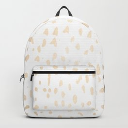 Luxe Gold Painted Polka Dot on White Backpack