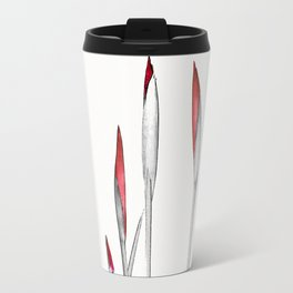 Red and White Spring Travel Mug