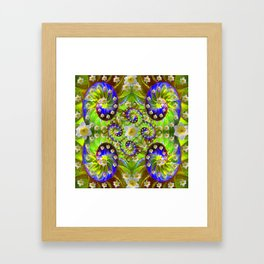 ULTRA VIOLET GREEN DAFFODIL GARDEN MAZE Framed Art Print