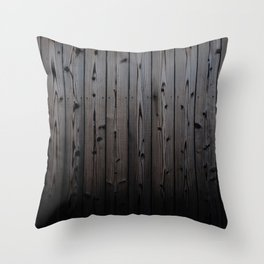 Silvered Slats Throw Pillow