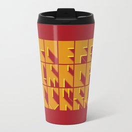 Alphabetical Pixel Red Travel Mug