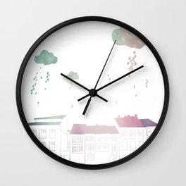 Ongi Etorri, rain Wall Clock