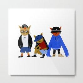 Streetwear Cats Metal Print