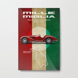 Mille Miglia Vintage Alfa Rom Metal Print