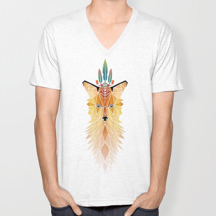 fox spirit  Unisex V-Neck