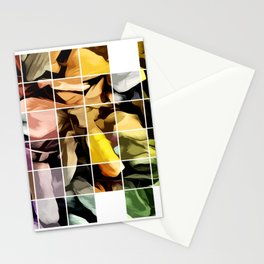 Patch Work Of Autumn Leaves Stationery Cards