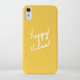 Happy Vibes Yellow iPhone Case