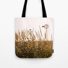 Sunflower Dreams & Windmill Memories... Tote Bag