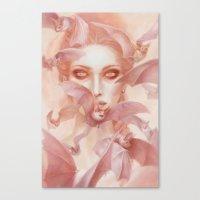carmilla Canvas Prints featuring Carmilla by Lauren K Cannon