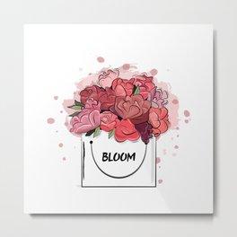 floral box Metal Print