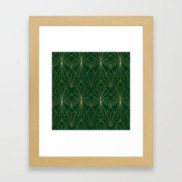 Art Deco in Gold & Green Framed Art Print