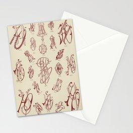 vintage lettering pattern design Stationery Cards