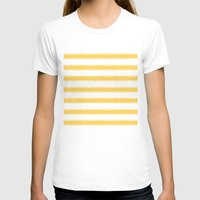 ikat T-shirts featuring Ikat Stripe Yellow by Jacqueline Maldonado