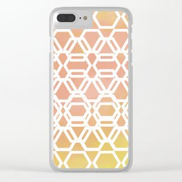 Goemetric spring pastel Clear iPhone Case