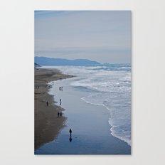 Cold Beach Canvas Print