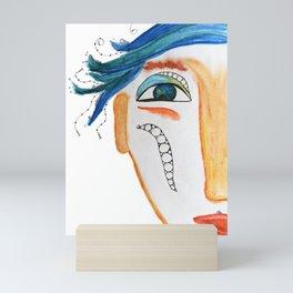 My name is Blue Mini Art Print