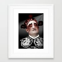 actor Framed Art Prints featuring Chinese opera (Actor Portrait). by Ian Gledhill