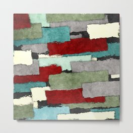 Colorful Patches Abstract Metal Print